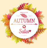 Poster with Leaves. EPS 10 Royalty Free Stock Images