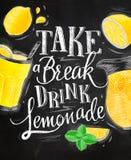 Poster lemonade chalk Stock Photo