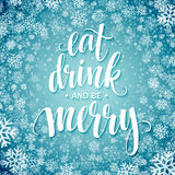 Poster lettering Eat drink and be merry.  Royalty Free Stock Photos