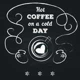 Poster lettering take coffee with you Stock Photos