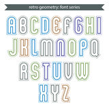 Poster light elegant font with outline. Contemporary vector colo Stock Images