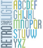 Poster light striped font, uppercase letters on white Stock Photo