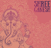 Poster with Lord Ganesha, can be used as card for celebration Ganesh Chaturthi Stock Images