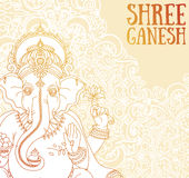 Poster with Lord Ganesha, can be used as card for celebration Ganesh Chaturthi. Vector illustration vector illustration