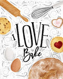 Poster love bake Stock Images