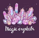 Poster - Magic crystals. Bright vector illustration.