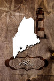 Poster Maine state map outline Royalty Free Stock Photography