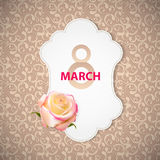 Poster 8 March Card Vector Illustration. EPS10 Royalty Free Stock Images