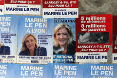 Poster of Marine Lepen Royalty Free Stock Photo
