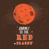 Poster for Mars colonization program Royalty Free Stock Photography