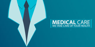 Poster, Medical care. Medical gown. Vector flat illustration. Royalty Free Stock Images