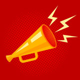 Poster with megaphone Royalty Free Stock Images