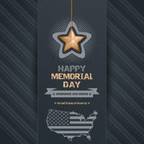 Poster for Memorial Day with map of the USA Stock Photo