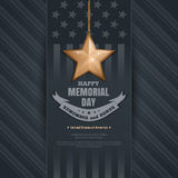 Poster for Memorial Day Stock Images