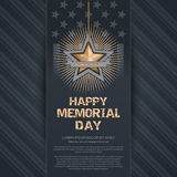 Poster for Memorial Day Stock Photography