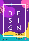Poster Memphis Style Abstract Design. Poster Memphis Abstract Design Trend. Modern Flyer Pop Art Trend Style Royalty Free Stock Photography