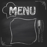 Poster menu Royalty Free Stock Photo