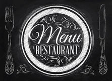 Poster Menu restaurant. Chalk. vector illustration