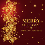Poster Merry Christmas and Happy New Year Royalty Free Stock Images