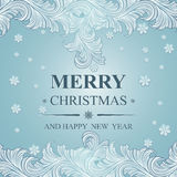 Poster Merry Christmas and Happy New Year Stock Photo