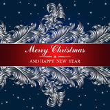 Poster Merry Christmas and Happy New Year Royalty Free Stock Photos