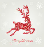 Poster merry christmas typography Stock Images