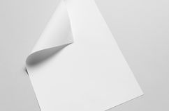 A3 Poster Mock-Up - Folded Corner. A photo of an A3 Poster Mock-Up - Folded Corner Royalty Free Stock Photo
