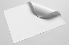 A3 Poster Mock-Up - Folded Corner. A photo of an A3 Poster Mock-Up - Folded Corner Stock Images