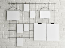 Free Poster Mock Up On Brick Wall Background, 3d Illustration Royalty Free Stock Image - 54127666