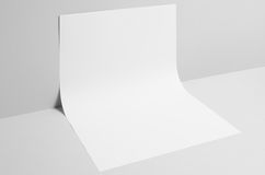 A3 Poster Mock-Up - Wall Background. A photo of a A3 Poster Mock-Up on a wall background Stock Image