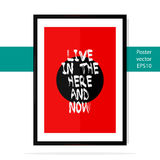 Poster Mockup. Modern painting in the frame. Realistic vector mockup template poster with an inscription Stock Images