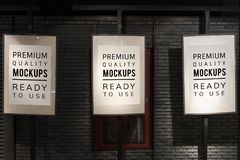 Poster mockup premium isolated outdoor Royalty Free Stock Photos