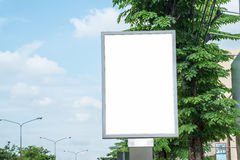 Poster Mockup Template in Bangkok. Blank space with clipping path Stock Image