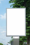 Poster Mockup Template in Bangkok. Blank space with clipping path Royalty Free Stock Photos