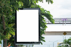 Poster Mockup Template in Bangkok. Blank space with clipping path Royalty Free Stock Images