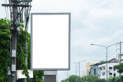 Poster Mockup Template in Bangkok. Blank space with clipping path Stock Photo