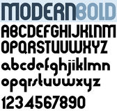 Poster modern bold black font and numbers. Royalty Free Stock Images