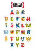 Poster of Monster Alphabet. Royalty Free Stock Image