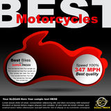 Poster about motorcycles Royalty Free Stock Image