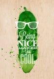Poster Mr Cucumber Stock Image
