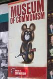 Poster of museum of Communism. Sarcastic poster museum of Communism in Prague, Czech Republic Stock Photography