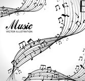poster with musical notes isolated icon design Royalty Free Stock Photography