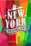 Poster with name of New York,  vector illustration Royalty Free Stock Photography