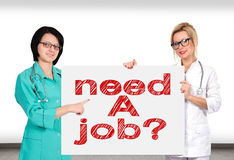 Poster with need a job Royalty Free Stock Image