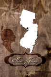 Poster New Jersey state map outline Royalty Free Stock Image