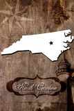 Poster North Carolina state map outline Stock Images