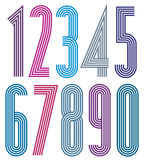 Poster numbers. Stock Images