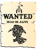 Poster ocidental selvagem Fotografia de Stock Royalty Free