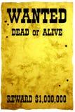 Poster ocidental selvagem imagem de stock
