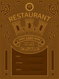 Poster old castle restaurant Stock Photography